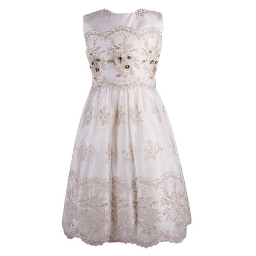 Lesy Dress - Golden White
