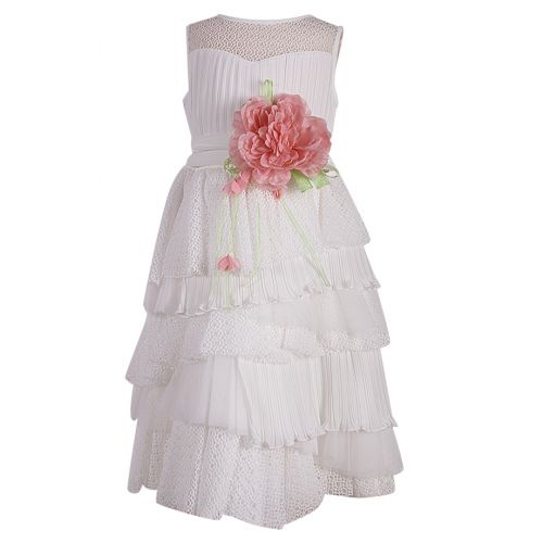 Aletta Dress With Belt - White