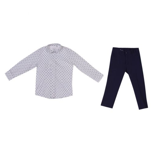 Aletta Long Sleeves With Pants - Blue