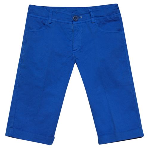 Plain Blue Bermuda Short