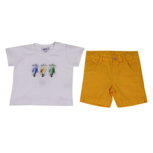 Aletta Polo Shirt & Bermuda Shorts - White