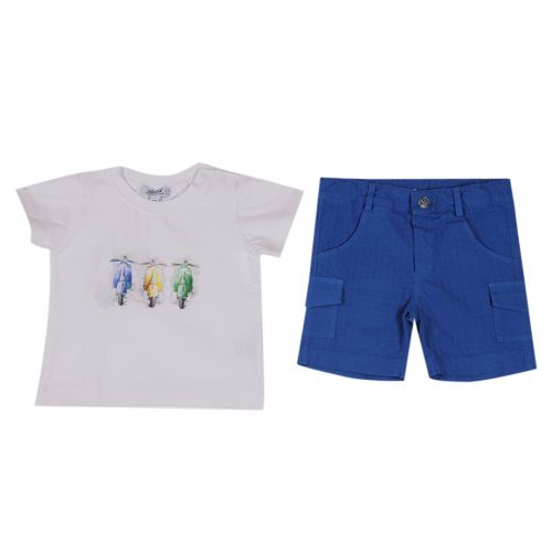 Aletta T-Shirt With Shorts - Blue