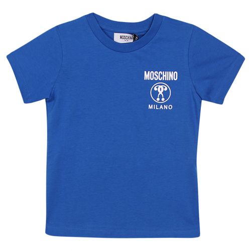 Blue T-Shirt with Moschino Milano Logo