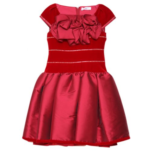 Red Pouf Style Dress