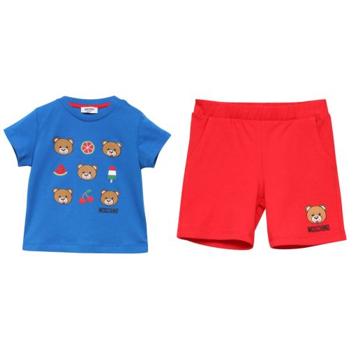 Blue T-Shirt with Red Shorts