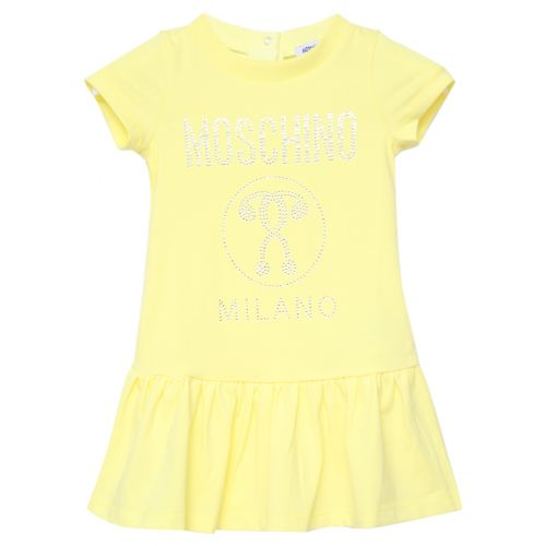 Yellow Dress with Moschino Milano Logo