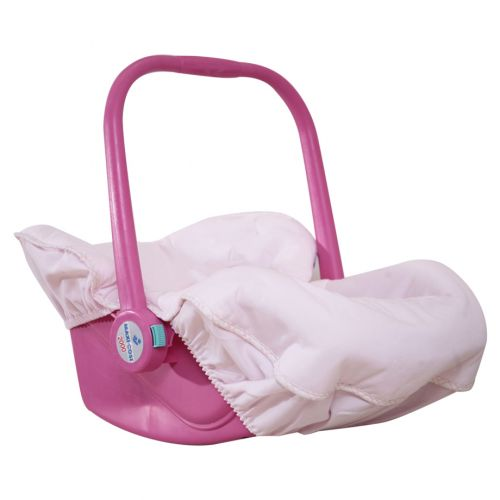 Pink Carry Cot with Harness and Cover