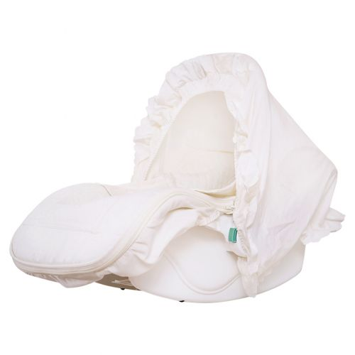 Beige Carry Cot with Hood, Blanket and Harness