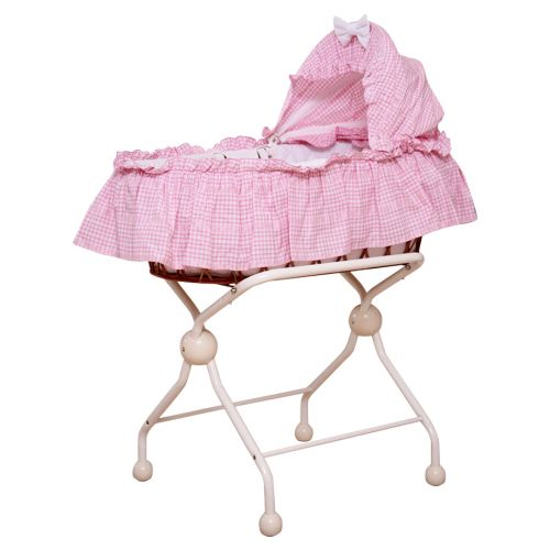 Pink Carry Cot with Stand