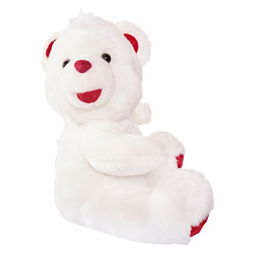 White and Red Teddy Bear Stuffed Toy