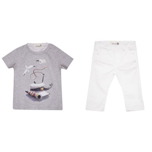"Gray ""Marine"" T-Shirt and Trouser"