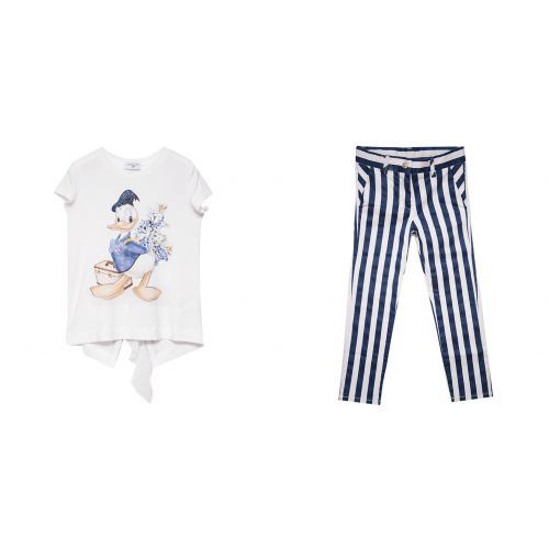 "Blue ""Donald Duck"" Top with Trouser"
