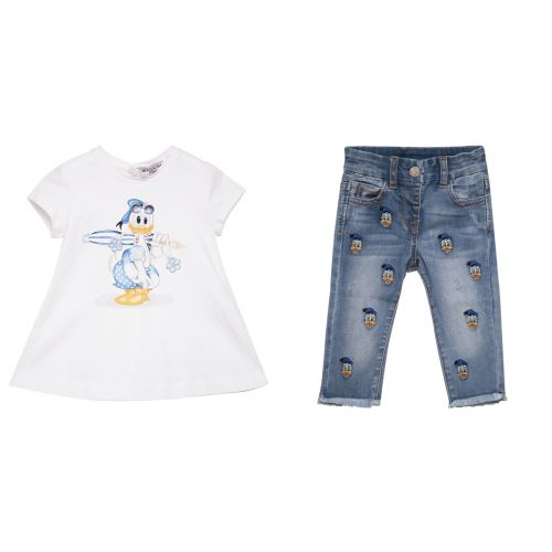"Blue ""Donald Duck"" Top and Jeans"