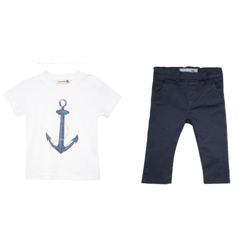 "Blue ""Anchor"" T-Shirt with Trouser"