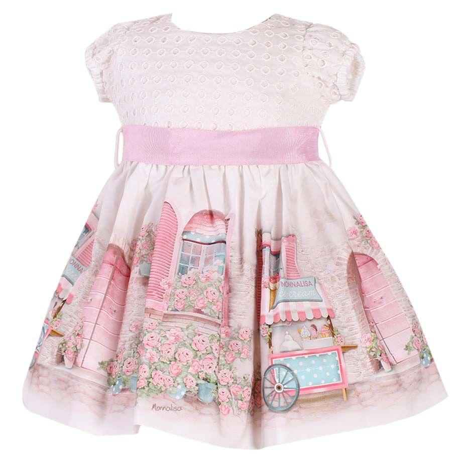 Monnalisa Dress - Pink 052eeacfa5c0